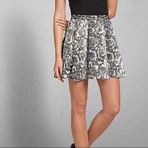 Abercrombie & Fitch Snake Print Skater Skirt